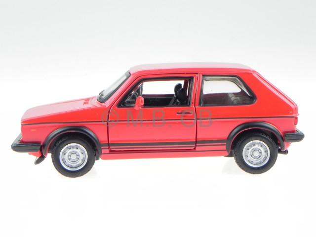 vw golf 1 gti rot modellauto 43205 bburago 1 32 ebay. Black Bedroom Furniture Sets. Home Design Ideas