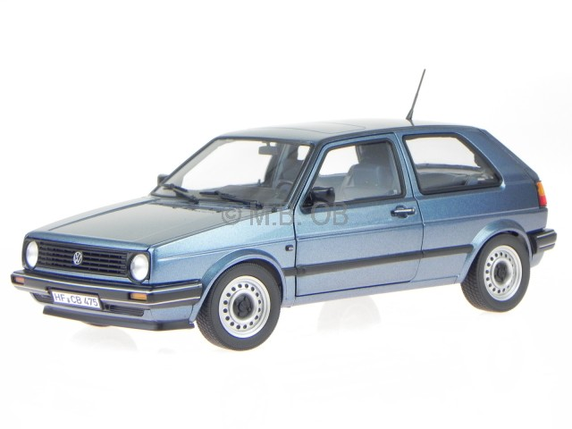 vw golf 2 cl 2 t rer blau metallic 1988 modellauto 188416. Black Bedroom Furniture Sets. Home Design Ideas