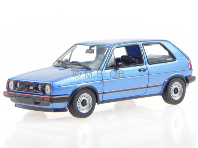 vw golf 2 gti 1985 blau metallic modellauto 940054120. Black Bedroom Furniture Sets. Home Design Ideas