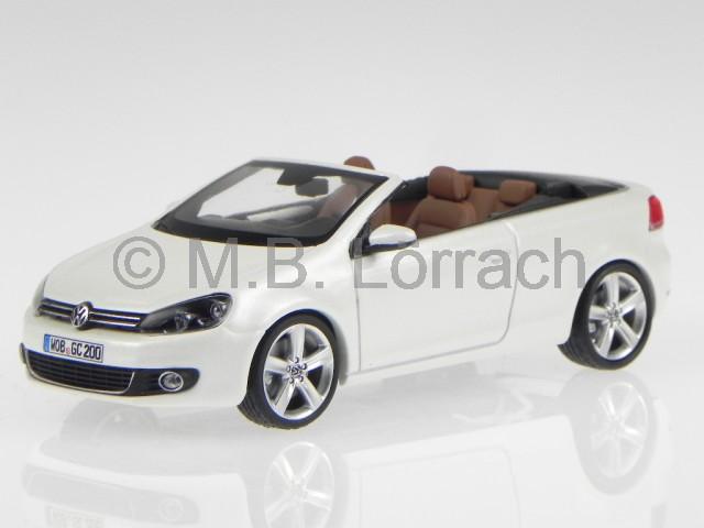 vw golf 6 cabrio onyx weiss perlmutt modellauto schuco 1. Black Bedroom Furniture Sets. Home Design Ideas
