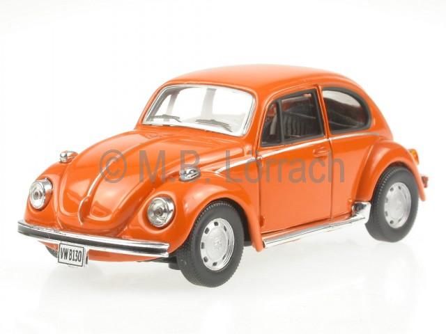 VW-Kafer-Beetle-orange-diecast-model-car-Cararama-1-43
