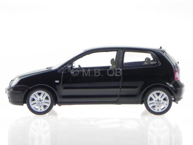 vw polo 9n 2003 schwarz modelauto 59762 autoart 1 43 ebay. Black Bedroom Furniture Sets. Home Design Ideas