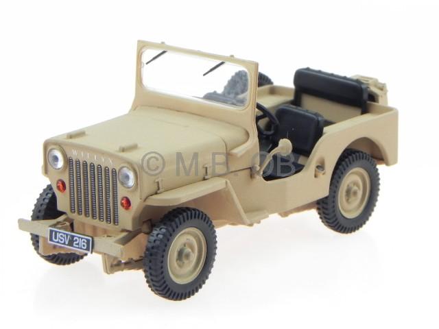 Willys Jeep For Sale >> Willys Jeep Cj 3b 1953 Desert Sand Diecast Model Car43039 Triple9 1 43