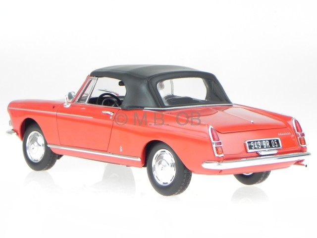 peugeot 404 convertiblelet 1967 red diecast model car. Black Bedroom Furniture Sets. Home Design Ideas