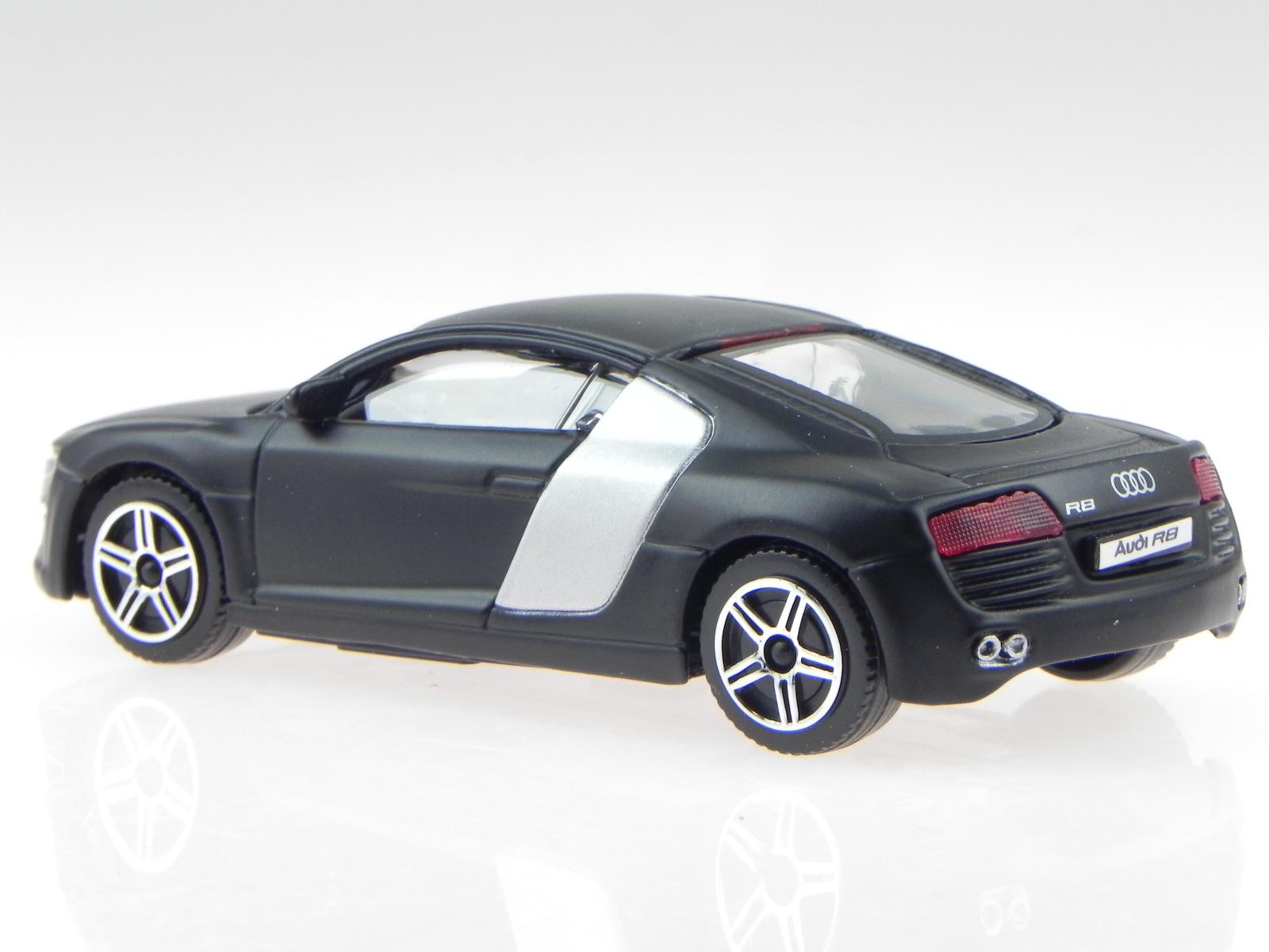 Audi R8 schwarz matt Modellauto Welly 1:24