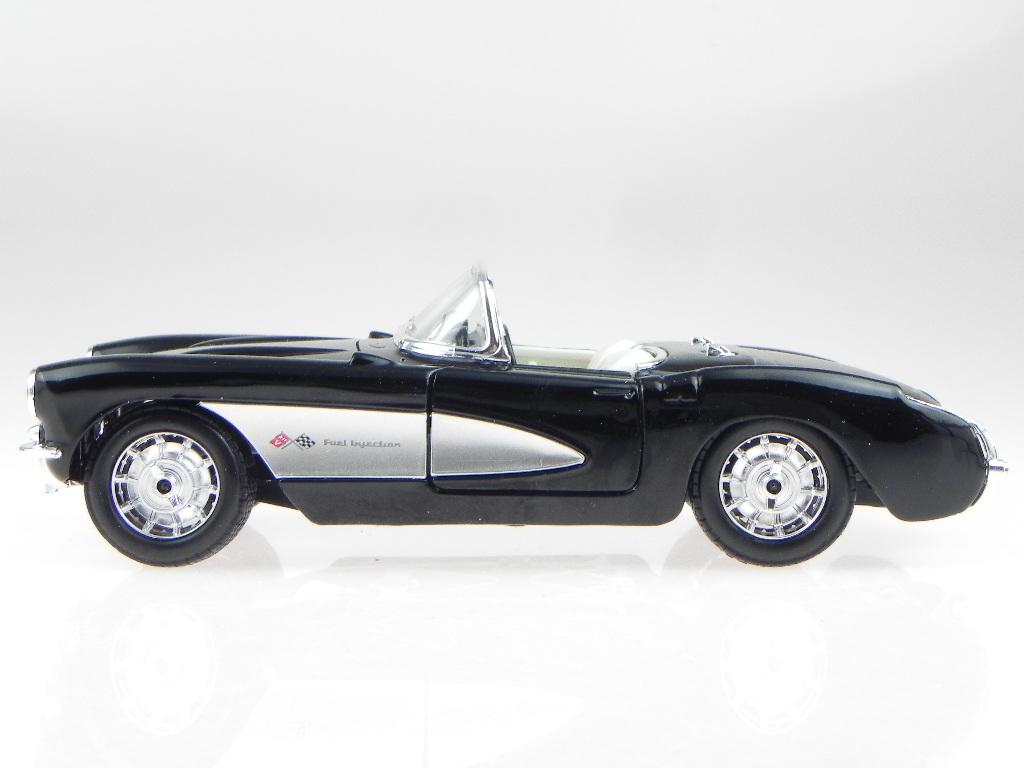 chevrolet corvette c1 1957 schwarz modellauto 31275 maisto. Black Bedroom Furniture Sets. Home Design Ideas