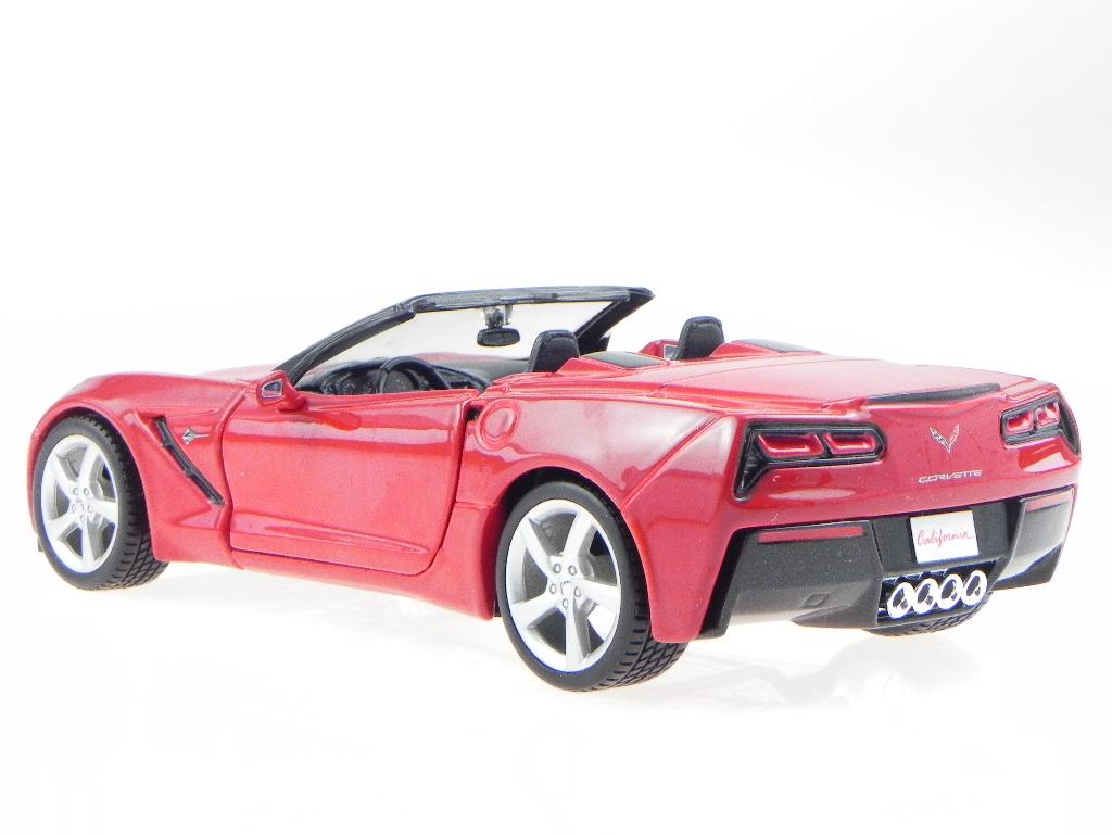 Chevrolet Corvette C7 Stingray Cabrio rot 1:24 Maisto neu /& OVP 531501