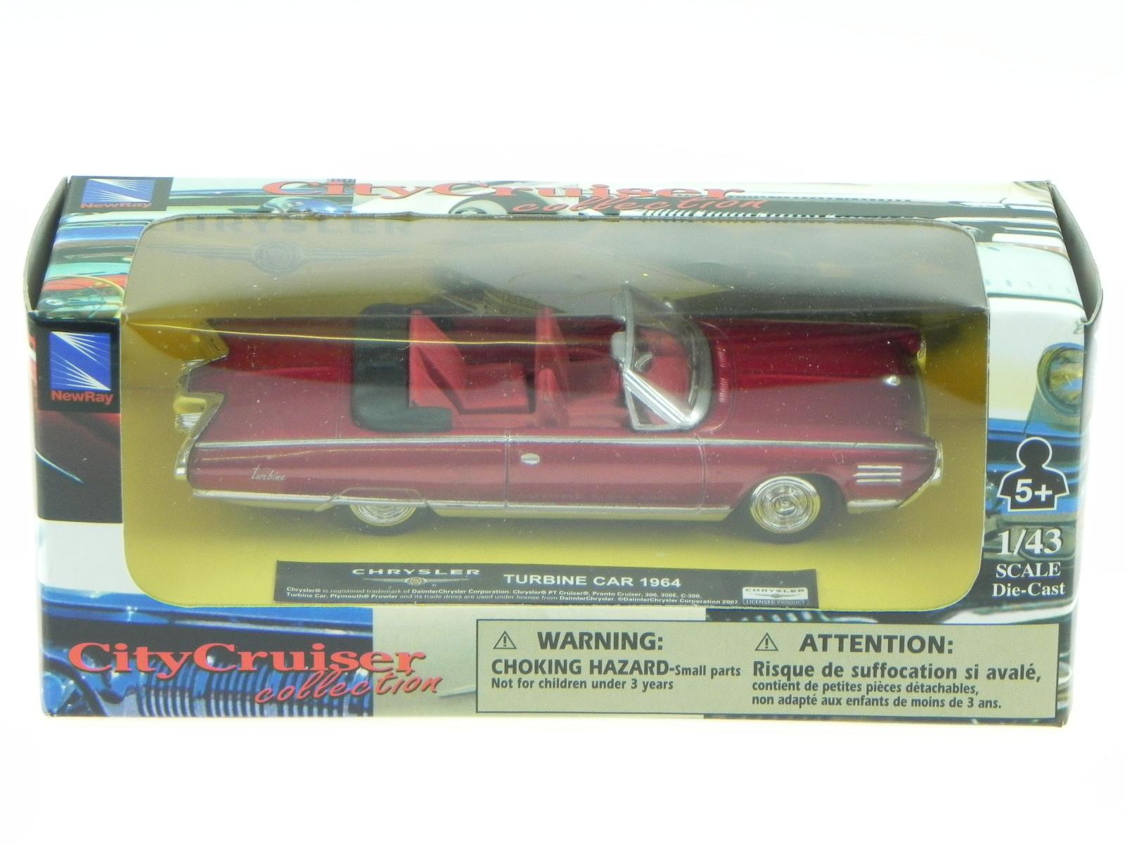 Chrysler Turbine Car Convertible 1964 Red Modelcar Newray 1 43 Ebay