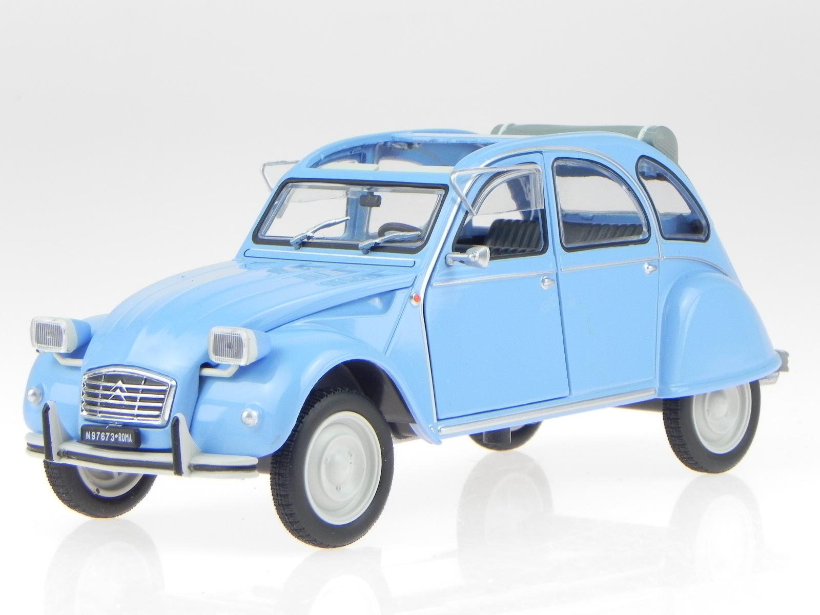 citroen 2cv 2 cv 4 ente 1976 blue modelcar leo 1 24 4058124200499 ebay. Black Bedroom Furniture Sets. Home Design Ideas