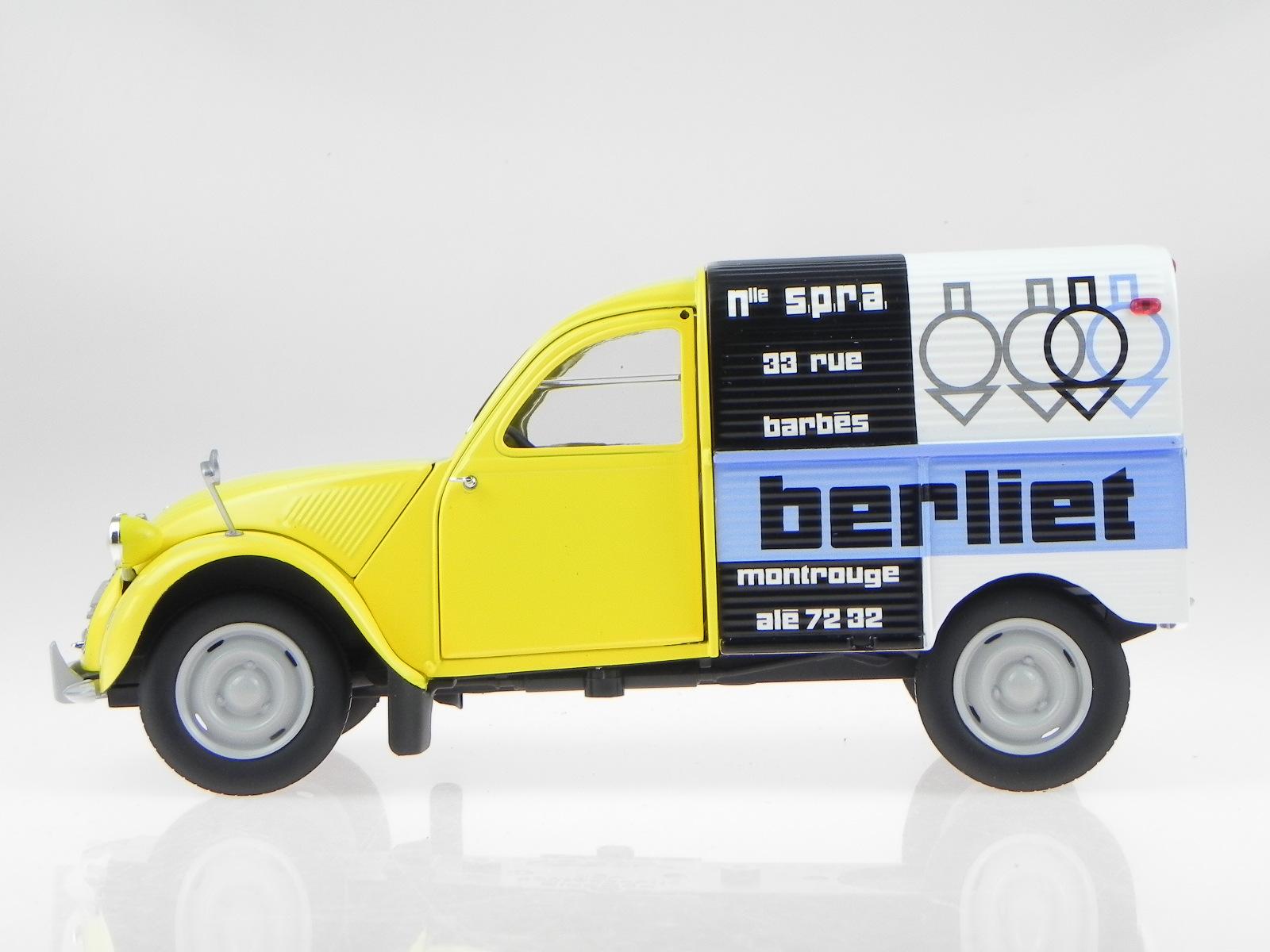 citroen 2cv 2 cv box wagon ente 1956 berliet modelcar 181600 norev 1 18 4058124208549