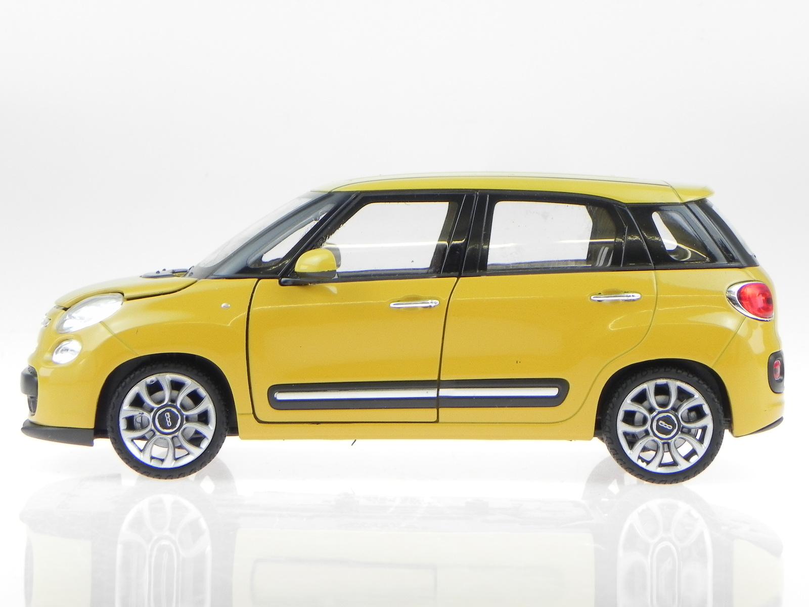 fiat 500l 500 l minivan 2013 gelb modellauto 24038 welly 1. Black Bedroom Furniture Sets. Home Design Ideas