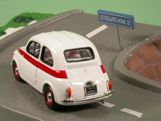 fiat 500 sport weiss modellauto diorama altaya 1 43 ebay. Black Bedroom Furniture Sets. Home Design Ideas