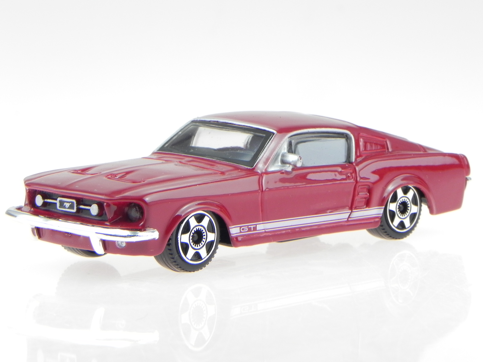 Image is loading ford mustang gt 1964 red diecast modelcar 30215