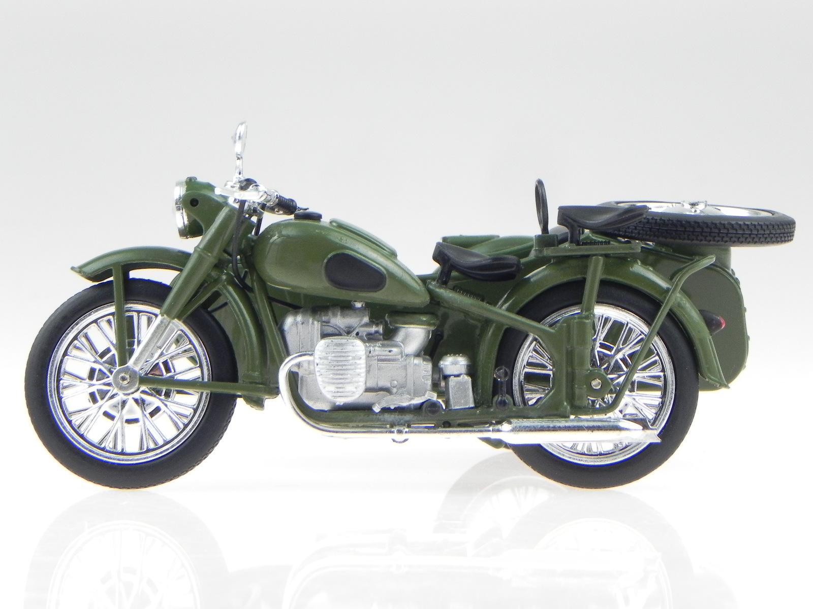 imz m72 ural sidecar ddr ostalgie bike modell atlas 1 24 4058124204770 ebay. Black Bedroom Furniture Sets. Home Design Ideas