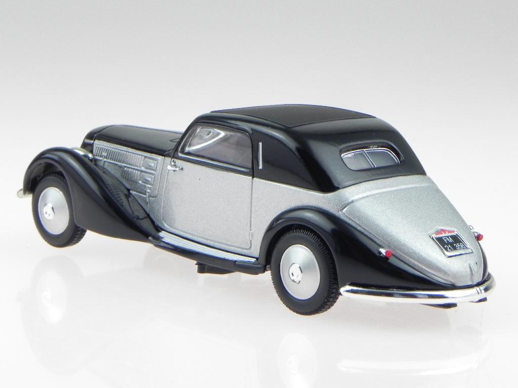 1//43 Diecast LANCIA ASTURA 1935 Car Model Black// Silver No Box