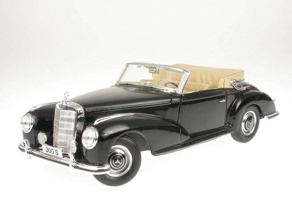 Maisto Mercedes-Benz 300S Cabrio schwarz 1:18 1955