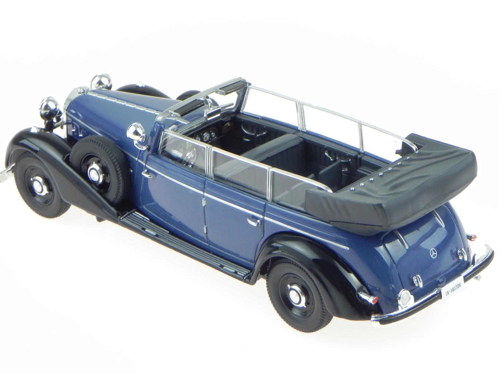 mercedes benz 770 k cabrio 1938 blau modellauto 43700. Black Bedroom Furniture Sets. Home Design Ideas