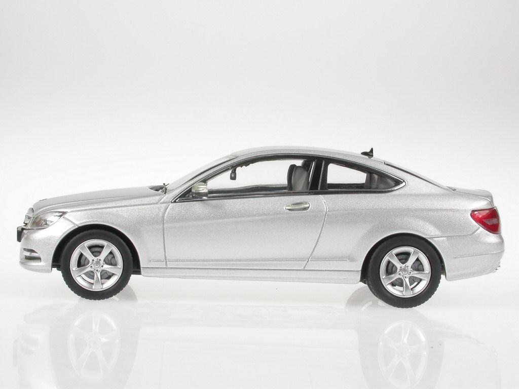 Mercedes-C204-C-Class-Coupe-iridiumsilver-diecast-model-car-Norev-1-43 miniature 2