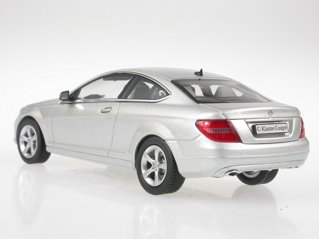 Mercedes-C204-C-Class-Coupe-iridiumsilver-diecast-model-car-Norev-1-43 miniature 3