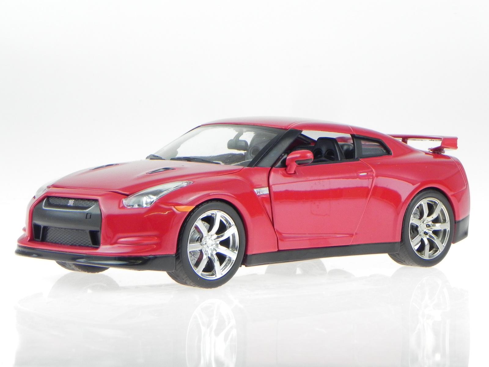 nissan gt r 2009 rot modellauto 96811 jada 1 24 ebay. Black Bedroom Furniture Sets. Home Design Ideas