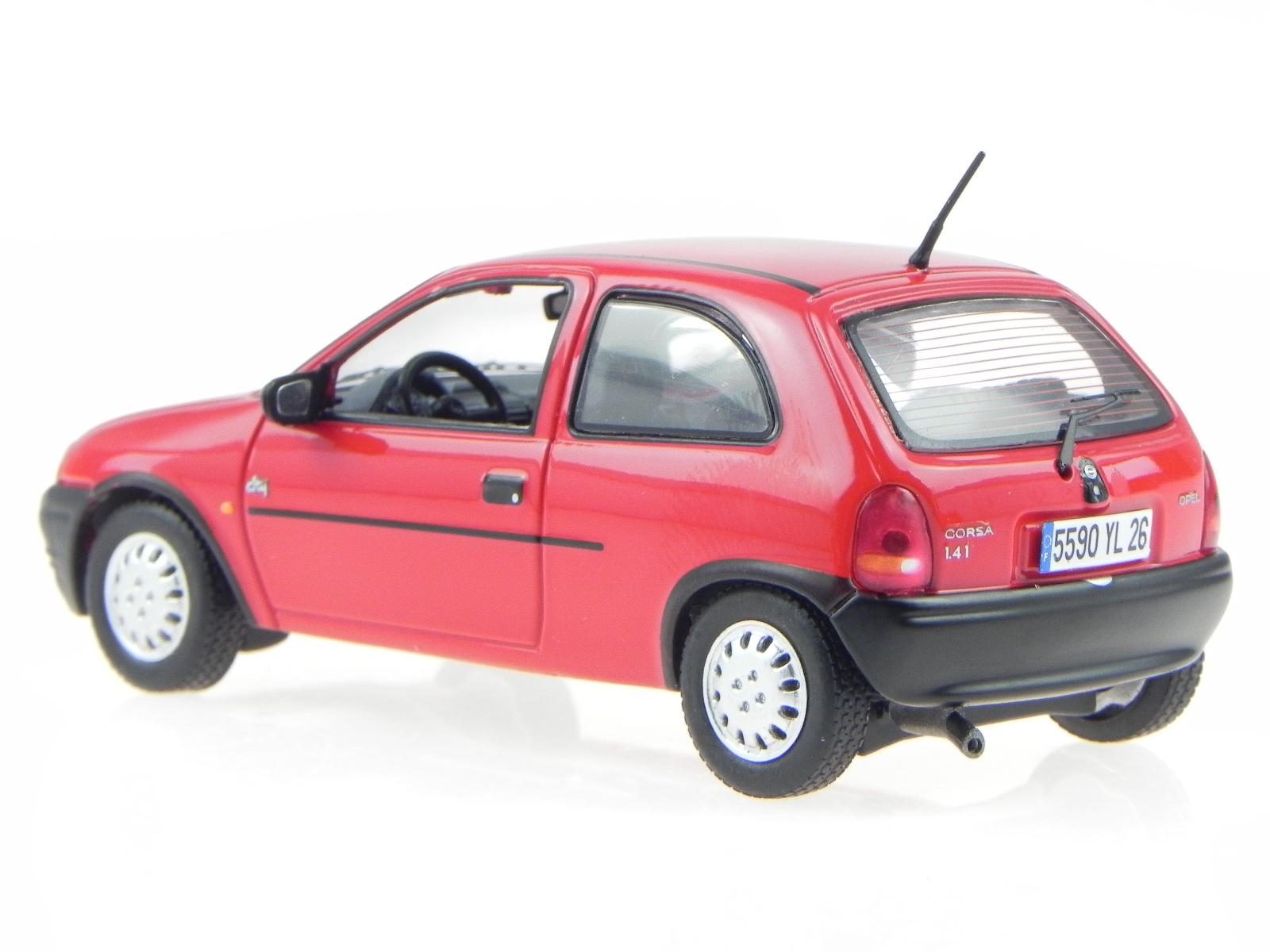 opel corsa b 1994 rot modellauto prd427 premiumx 1 43 ebay. Black Bedroom Furniture Sets. Home Design Ideas