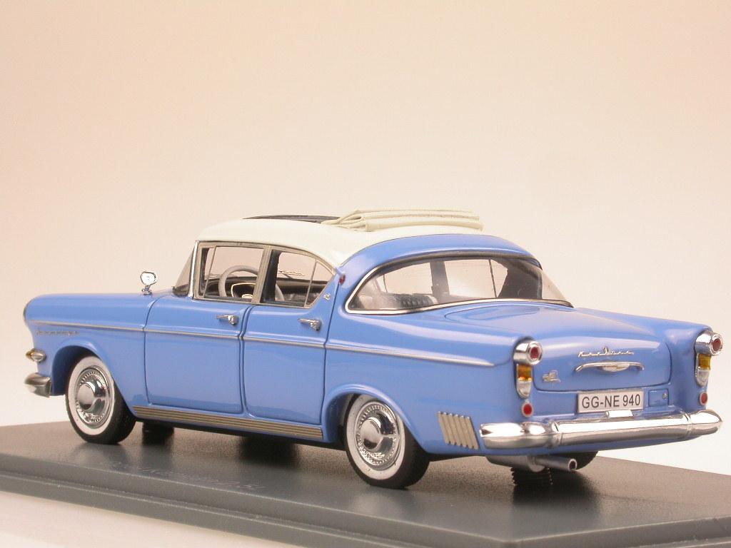 Opel Neo Kapitän 1958 blu-bianco modellino Neo Opel 1 43 5b1cc1