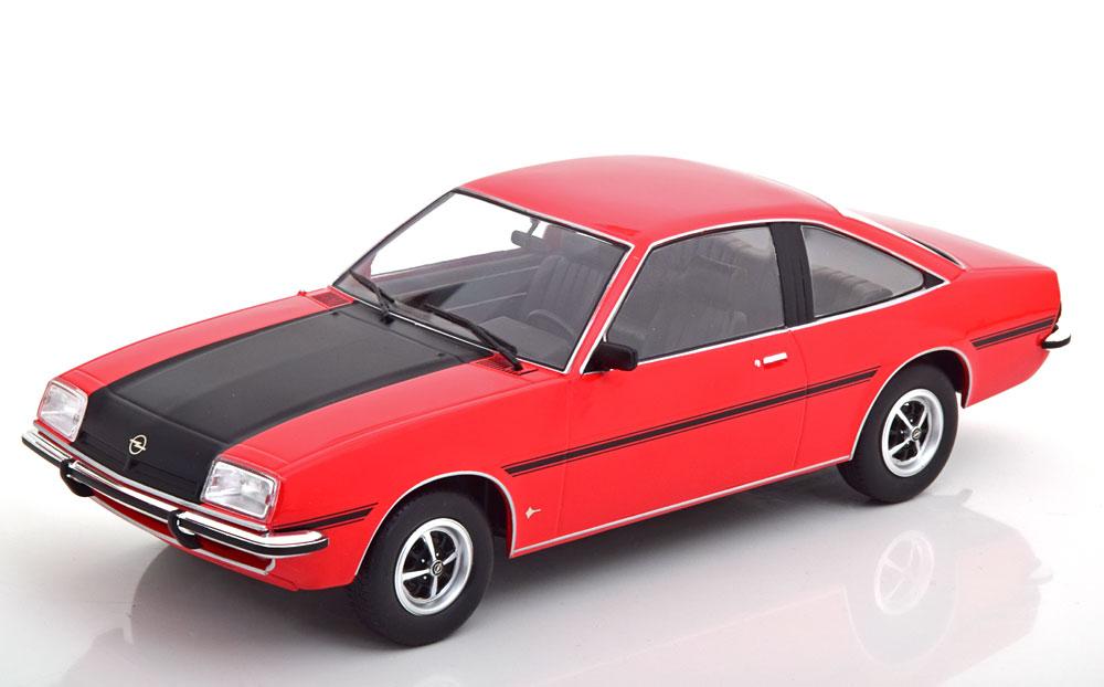 Opel Manta B SR 1975 rot schwarz Modellauto 1:18 MCG