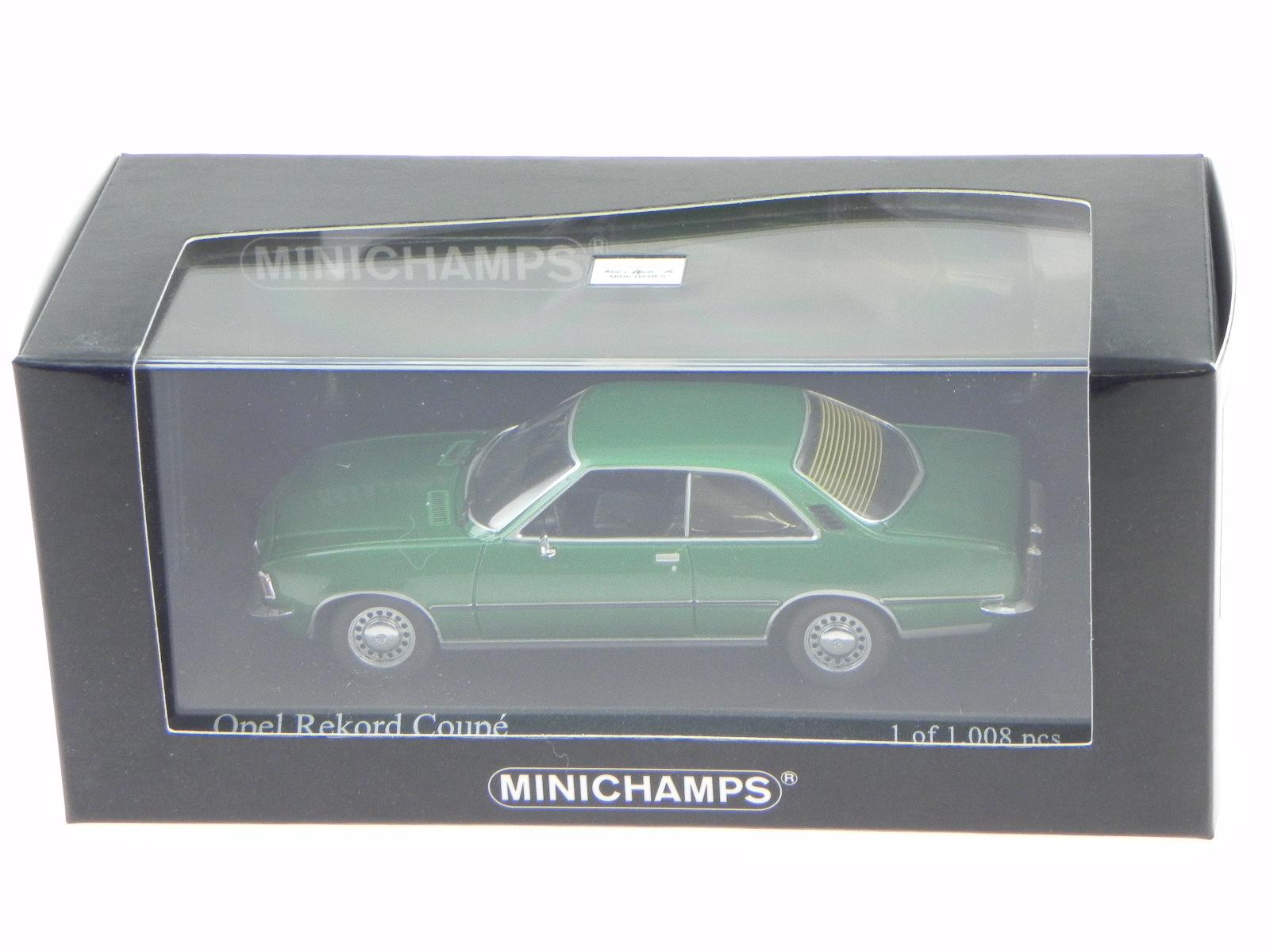 Opel-Rekord-D-cupe-verde-coche-en-miniatura-400044022-Minichamps-1-43 miniatura 4
