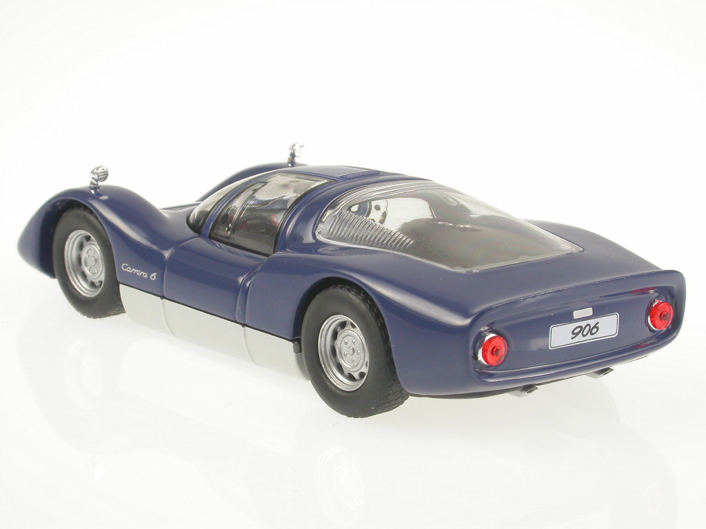 Porsche-906-Carrera-6-1965-blue-diecast-model-car-Solido-1-43 miniature 3