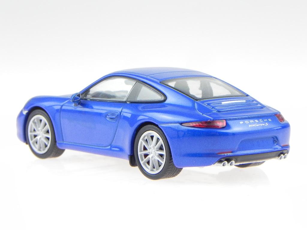 porsche 911 991 carrera blau modellauto welly ebay. Black Bedroom Furniture Sets. Home Design Ideas