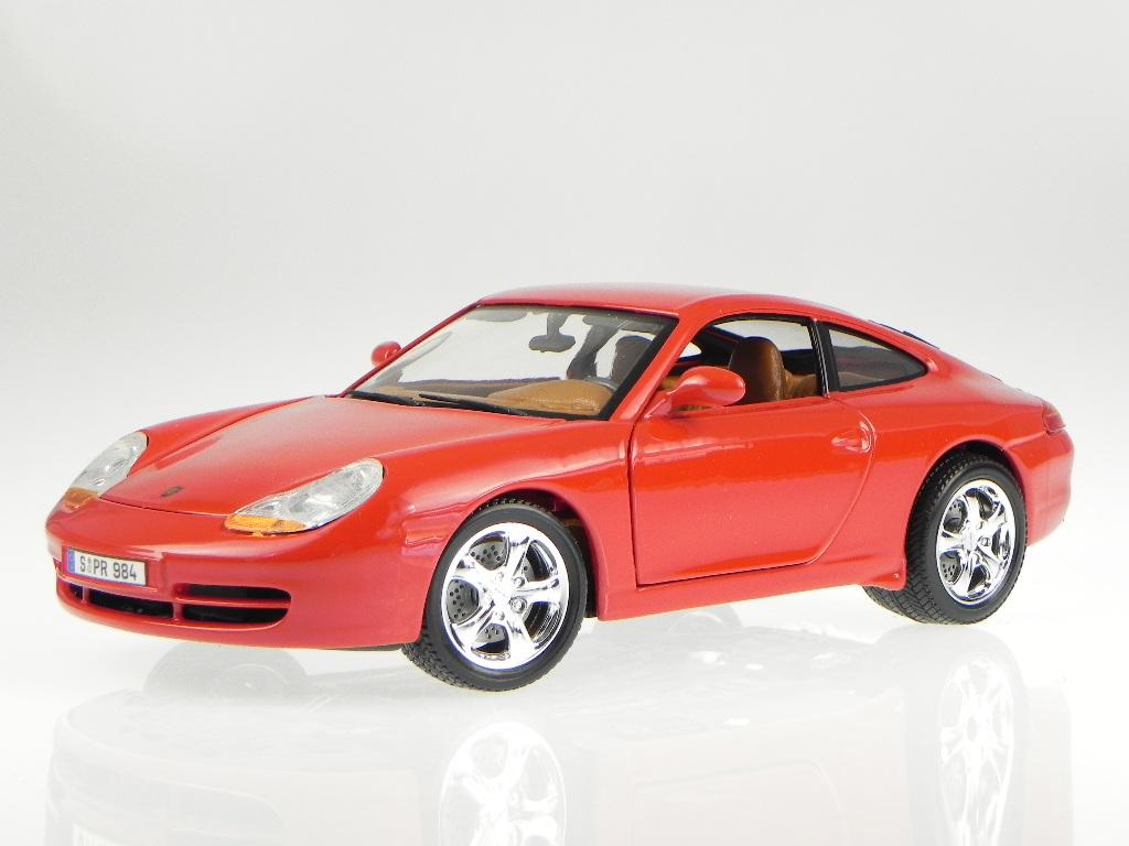 porsche 911 996 carrera rot modellauto 18 12060 bburago 1. Black Bedroom Furniture Sets. Home Design Ideas