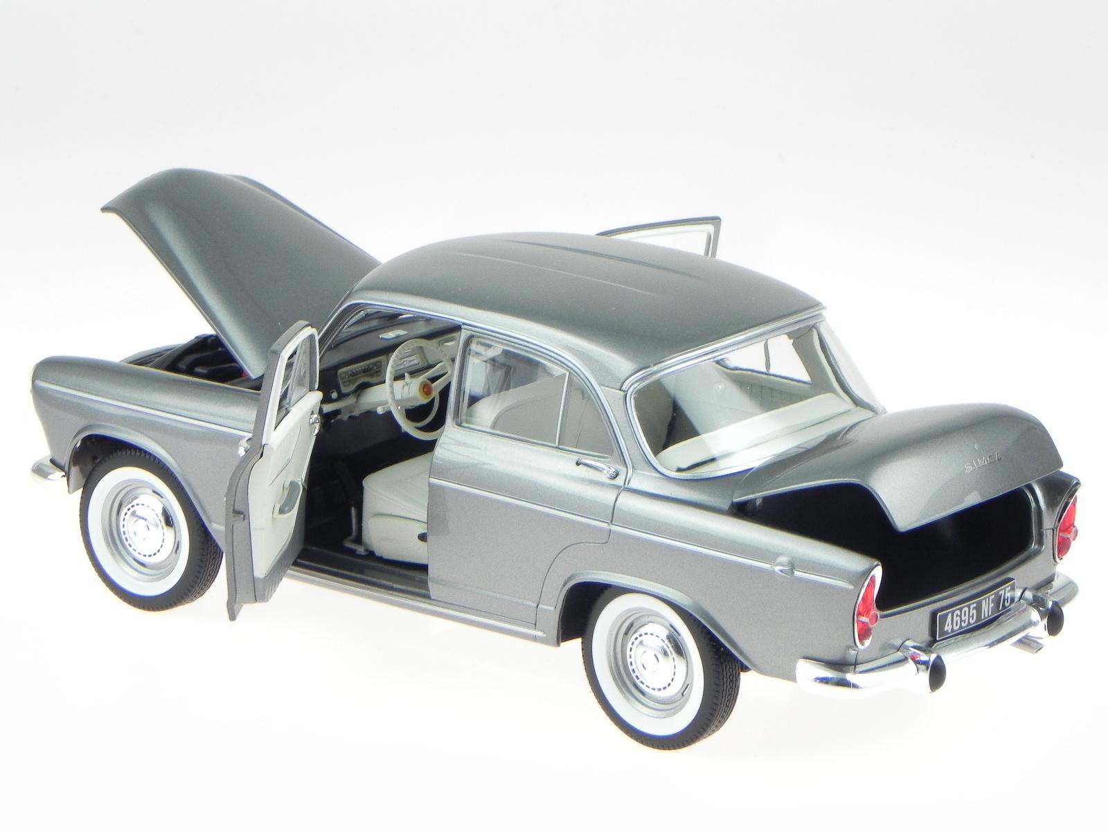 Norev Modellauto 1:18 Simca Aronde Monthlery Speciale 1962 grau metallic