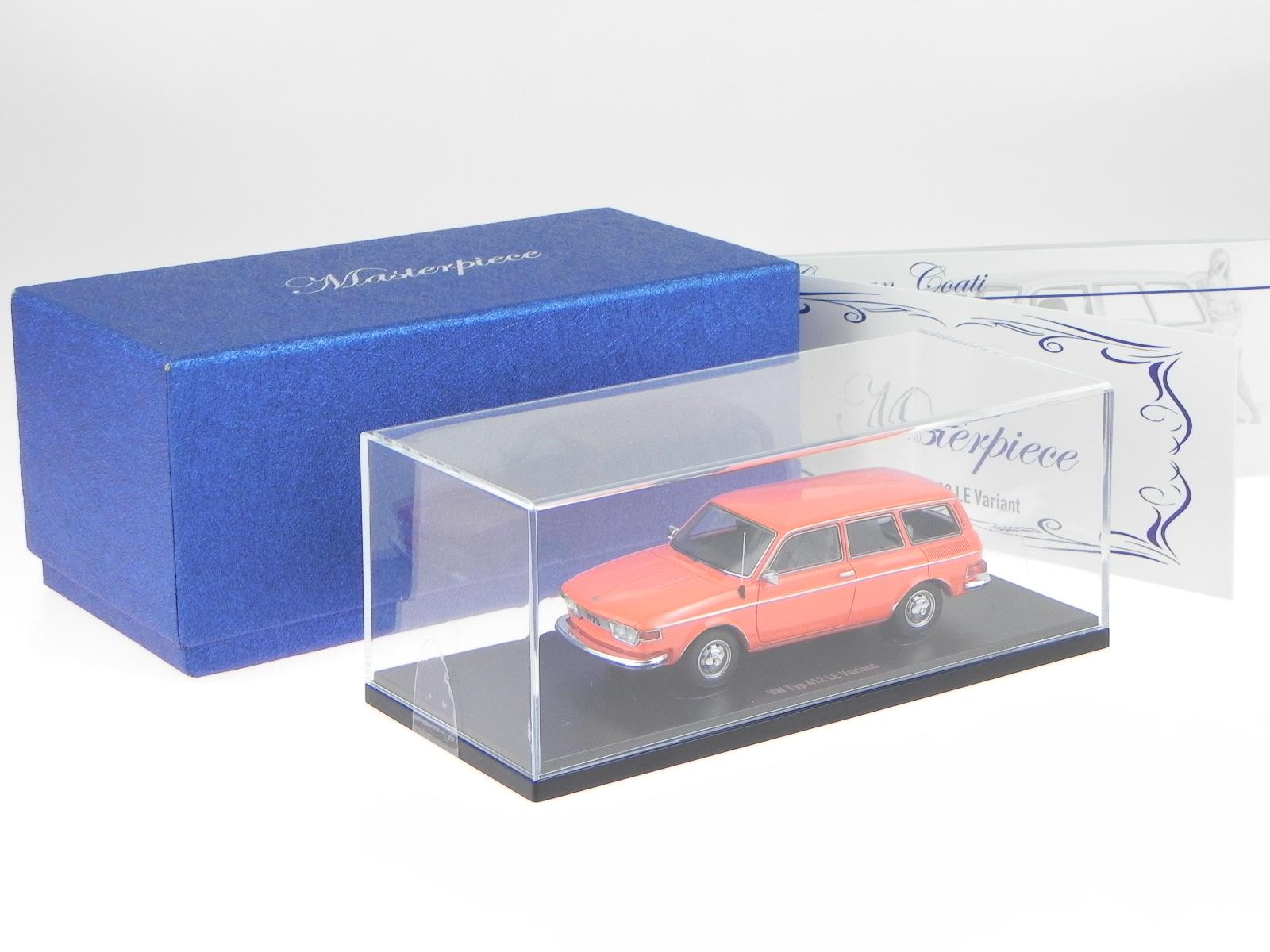 VW 412 LE Variant arancio modellino resina 90047 AutoCult 1:43 1:43 1:43 352595