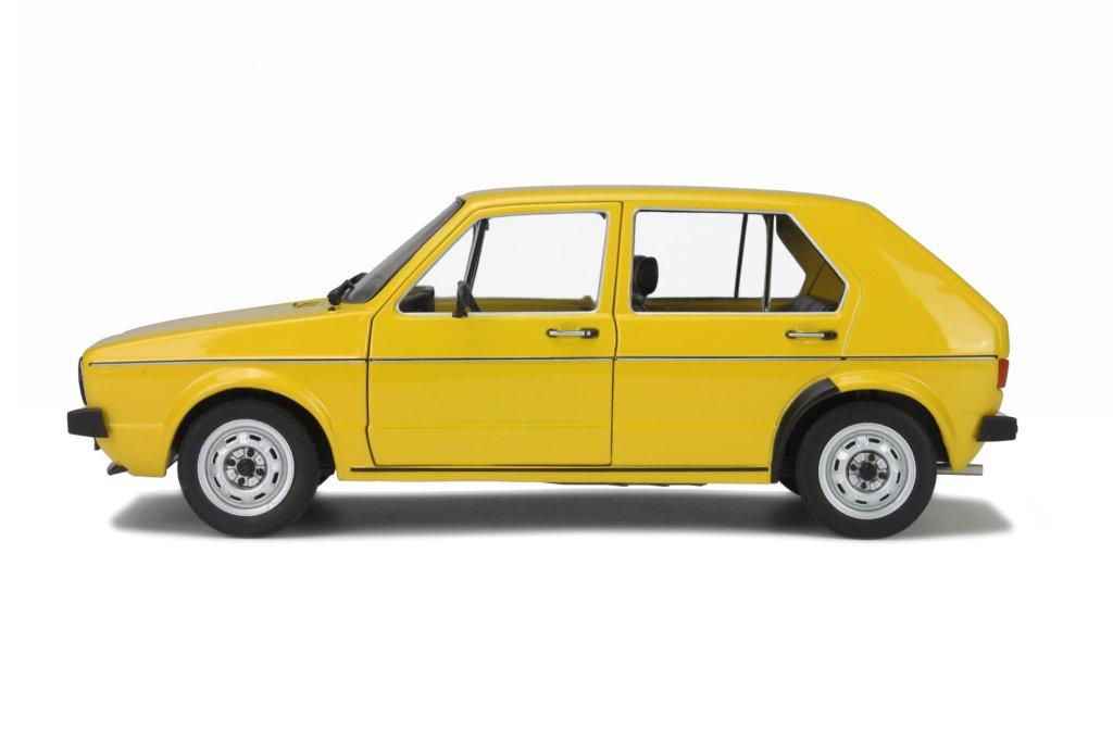 VW-Golf-1-L-4-door-yellow-modelcar-Solido-1800201-1-18