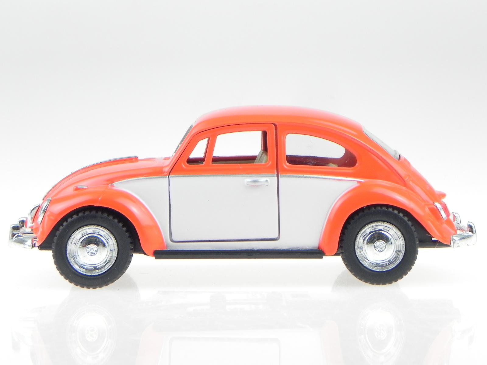 vw k fer 1967 orange weiss modellauto 5373 kinsmart 1 32. Black Bedroom Furniture Sets. Home Design Ideas