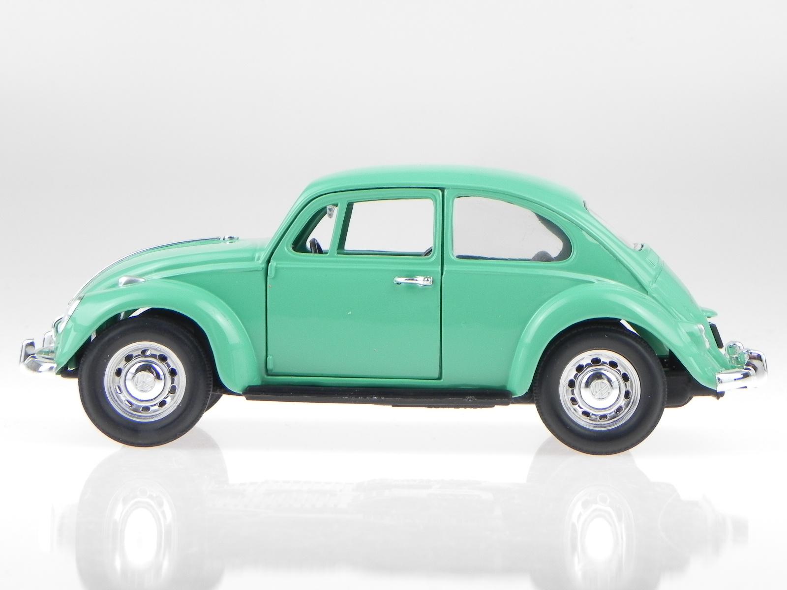vw k fer beetle 1967 gr n modellauto yatming 1 24 ebay. Black Bedroom Furniture Sets. Home Design Ideas