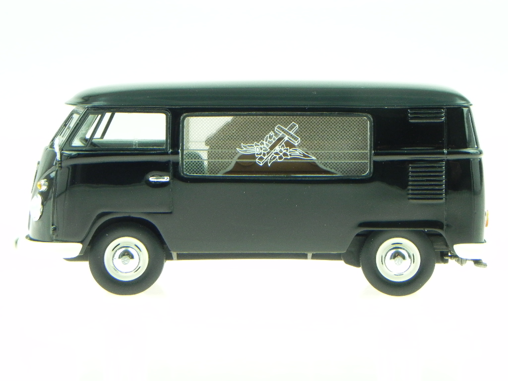 Vw T1 Hearse Black Diecast Model Car 18480 Premium Classixxs 1 43