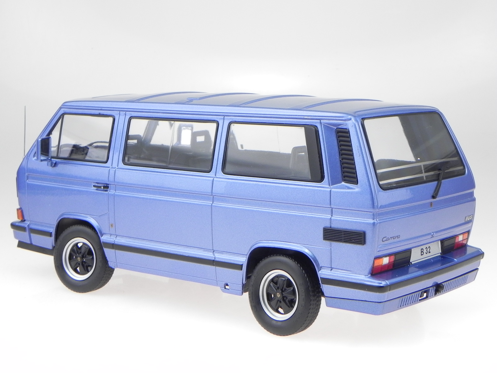 VW T3 B32 B32 B32 Porsche Bus bleu véhicule miniature 180222 véhicule miniature KK-Scale 3c7365