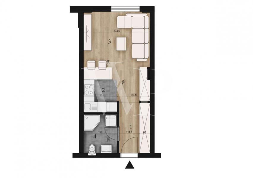 28 m2, Stan, Tošin bunar, agencijski ID: 42418