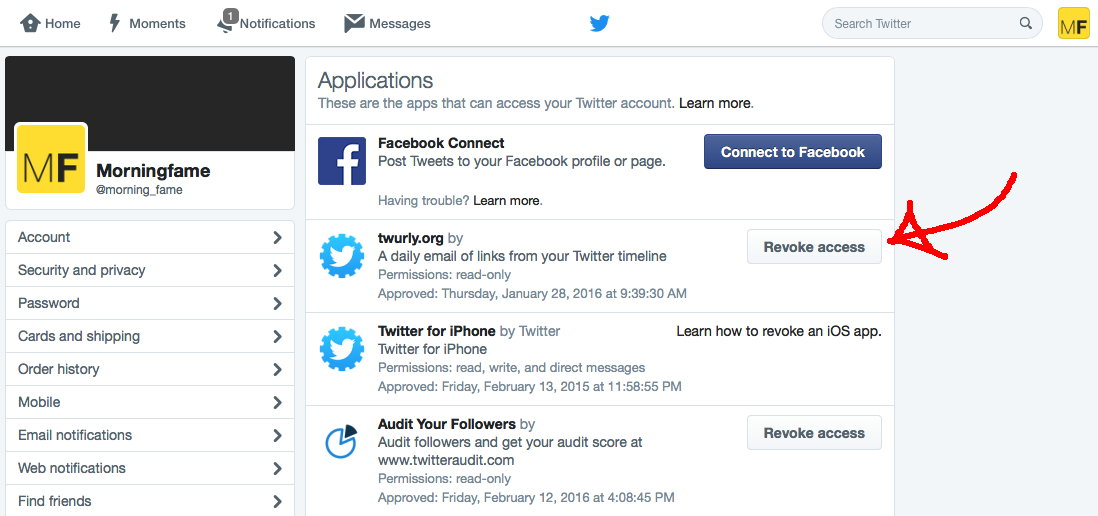 Free Your Social Accounts From Getting Accessed by Old Apps