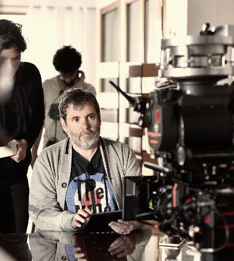 Jorge Coria en el rodaje de Hierro de Movistar+