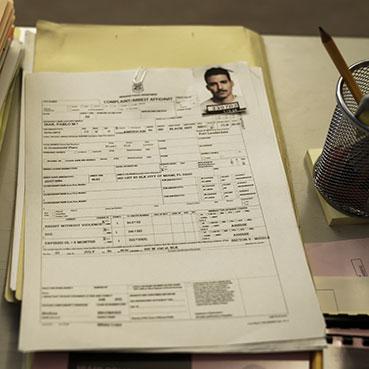 Ficha policial de Palbo Ibar en En el corredor de la muerte - Movistar +