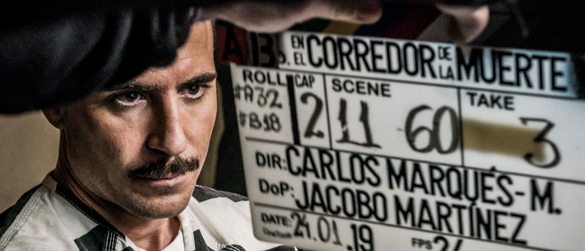 Miguel Ángel Silvestre en el making of de En el corredor de la muerte de Movistar+