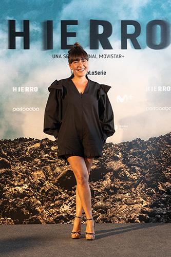Candela Peña en la presentación de Hierro. Originales Movistar+