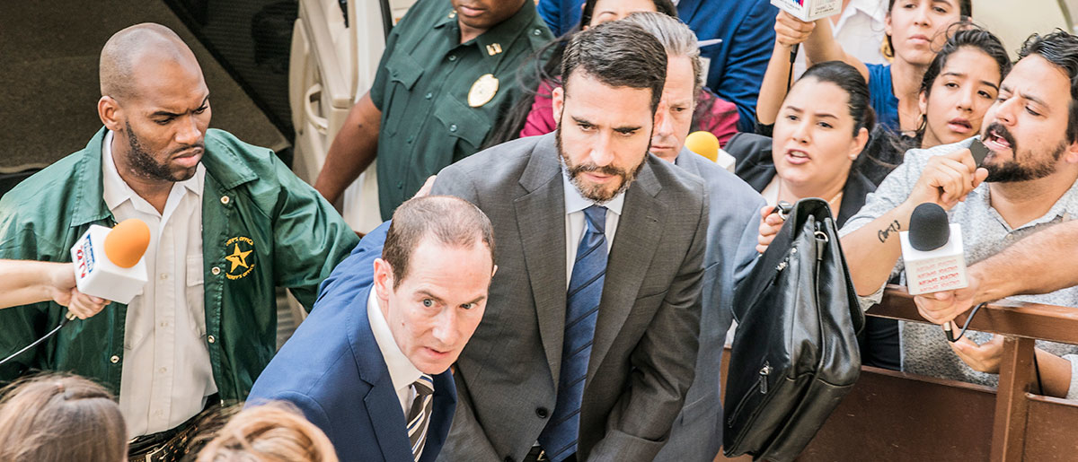 Miguel Ángel Silvestre interpretando a Pablo Ibar en En el corredor de la muerte de Movistar+