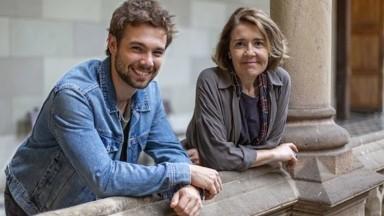 Carlos Cuevas y María Pujalte, en 'Merlí: sapere aude'.  MOVISTAR+