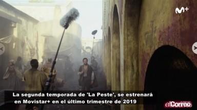 Rodaje de la segunda temporada de La Peste de Movistar+