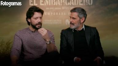 Álvaro Morte y Roberto Enríquez en El Embarcadero de Originales Movistar+