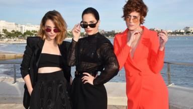 De izquierda a derecha Leticia Dolera, Celia Freijeiro y Aixa Villagrán -Vida Perfecta de Movistar+