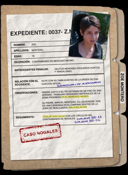 Zoe Montero interpretada por Alba Galocha